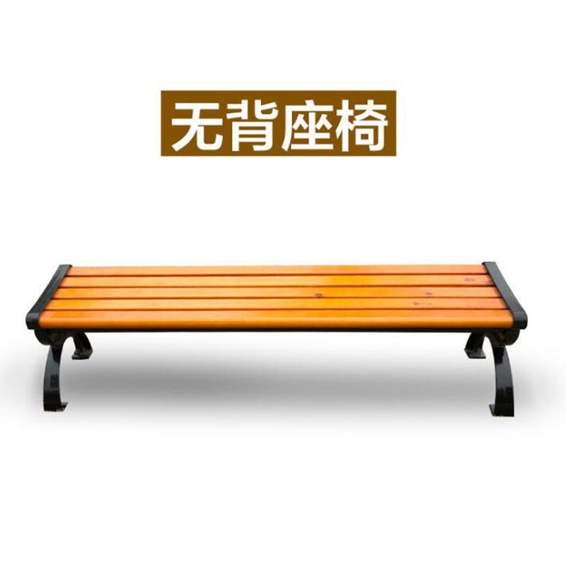 防腐木(實木)鑄鋁公園休閑椅 3