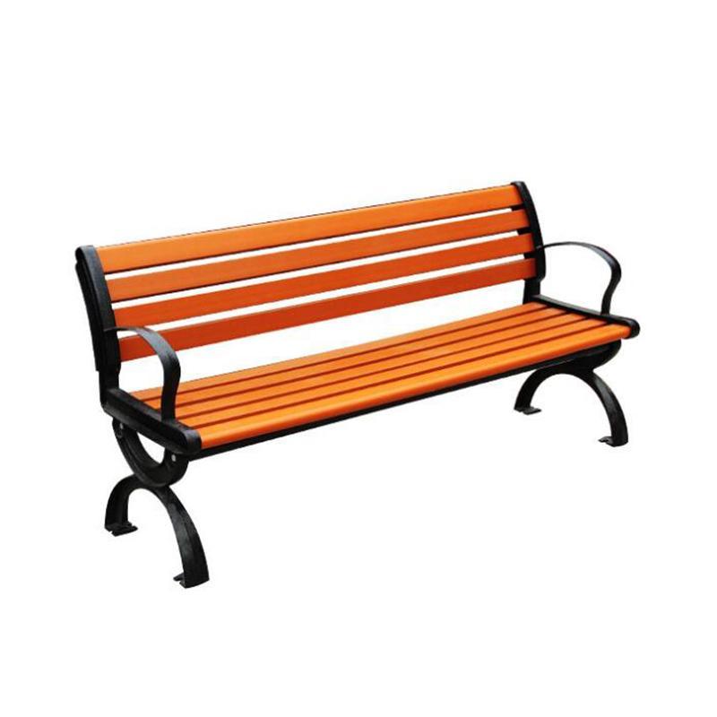 防腐木(實木)鑄鋁公園休閑椅 4