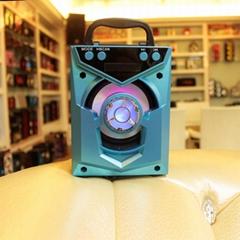 廠家直銷迷你木質戶外便攜式功放音響藍牙音箱帶收音機