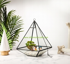 Triangular plant terrarium glass gifts crafts