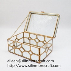 jewelry-box storage box geometric glass terrariums made in China