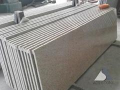 Misty yellow granite prefab countertop