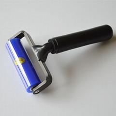 热销12寸硅胶粘尘滚轮蓝色粘尘滚轮
