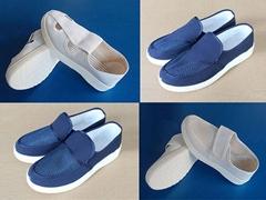 防静电鞋无尘工作鞋四孔鞋帆布中巾网面鞋