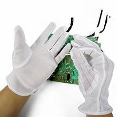 PU防静电条纹点胶无尘电子厂手套