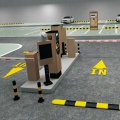 國外停車場出入口專用票箱機門禁系統