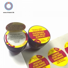 Adhesive customized beauty usage label multi layer peel and read label sticker