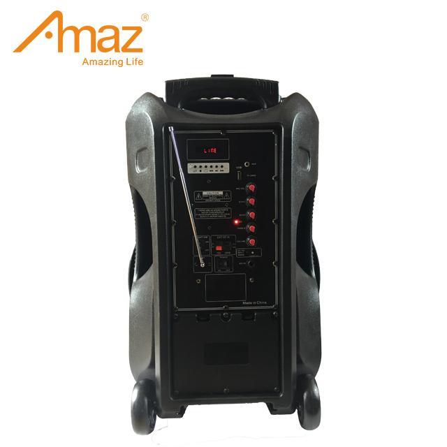 12 inch plastic black portable outdoor bluetooth wireless trolley speaker 2