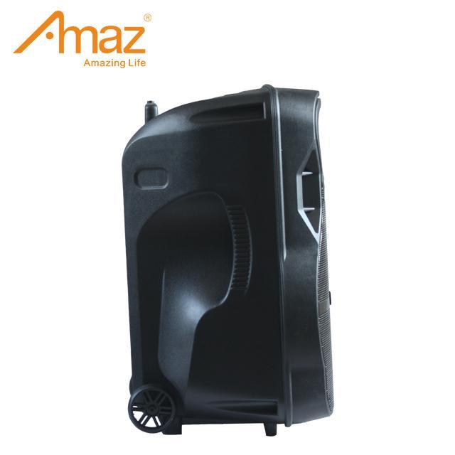 12 inch plastic black portable outdoor bluetooth wireless trolley speaker 4