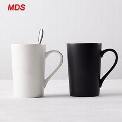 Homeware sweethears lovers ceramic mug cup with lid and spoon