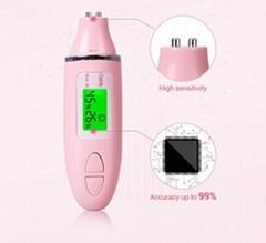 Portable Beauty Care Tool Skin Oil Tester Pen Digital Skin Moisture Meter