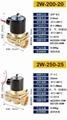 廠家直銷兩位兩通黃銅材質電磁閥220V 2W 32 40 50 65 關閥 電動閥 4