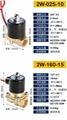 廠家直銷兩位兩通黃銅材質電磁閥220V 2W 08 10 15關閥 電動閥 3