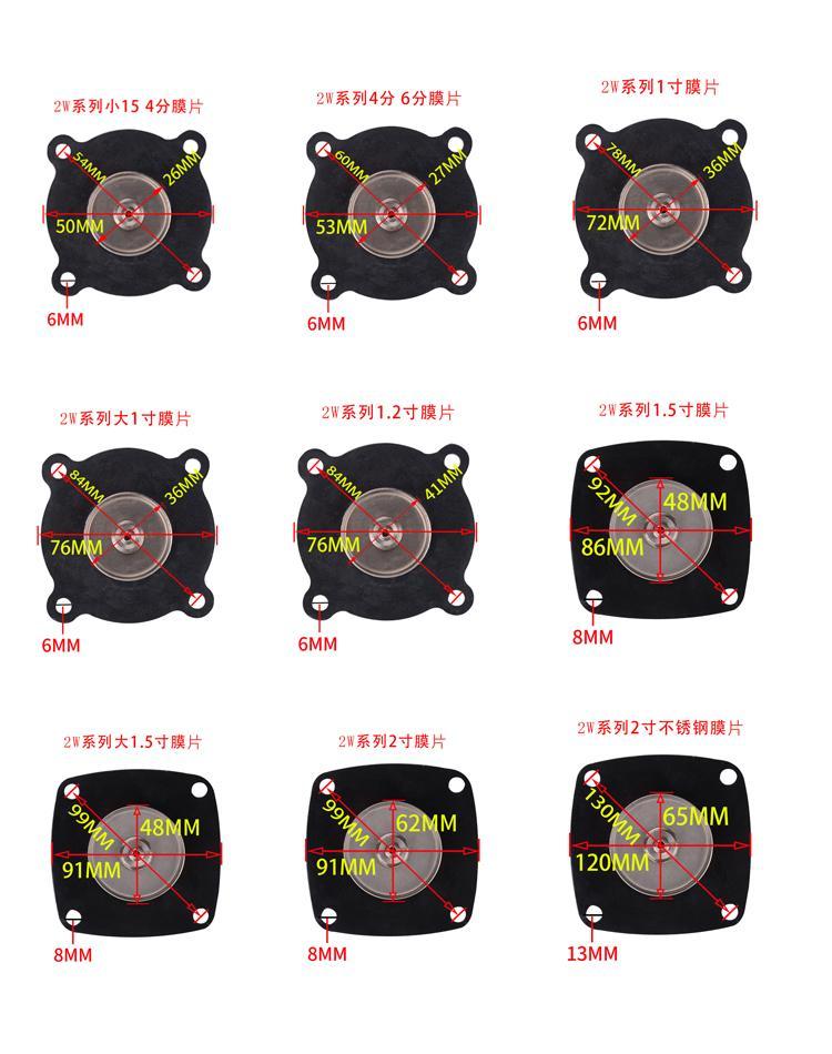 电磁阀膜片配件4分1寸2寸密封2W 25 40 50橡胶垫水阀气阀淋水器 4