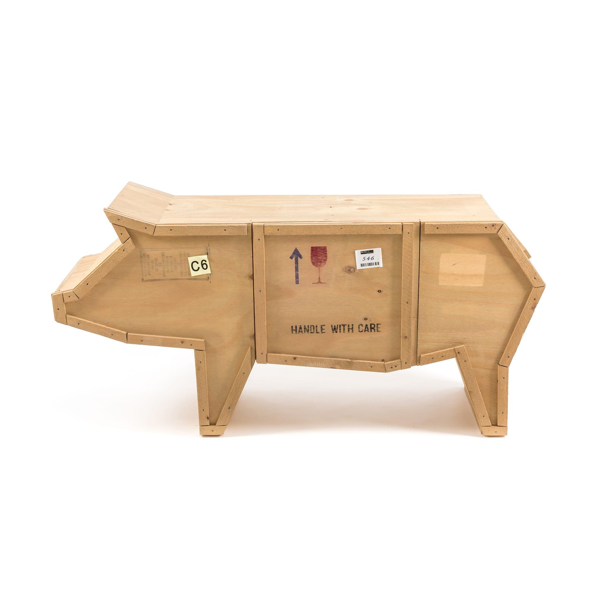 创意动物木质书柜 1