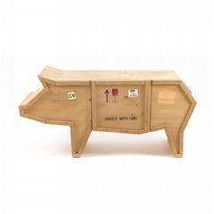 創意動物木質書櫃