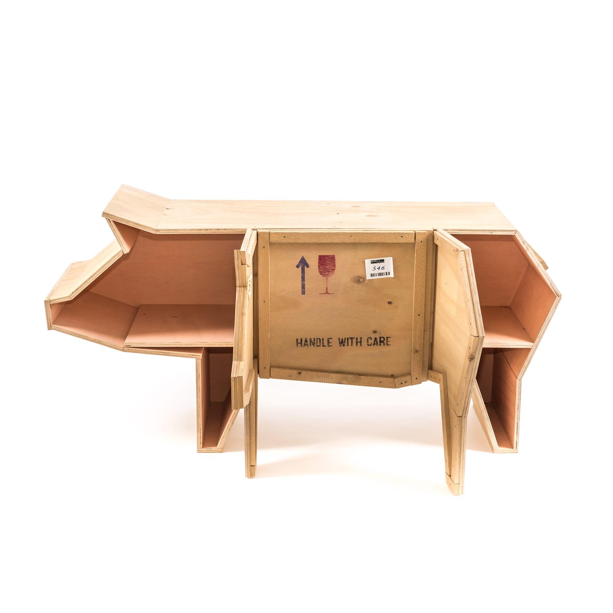 创意动物木质书柜 2