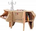 创意动物木质书柜 4