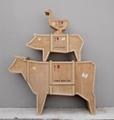 创意动物木质书柜 5