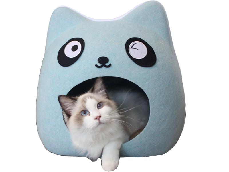 Felt Cat Cave Pet House Dog Bed Lovely Pumpkin Shape 3