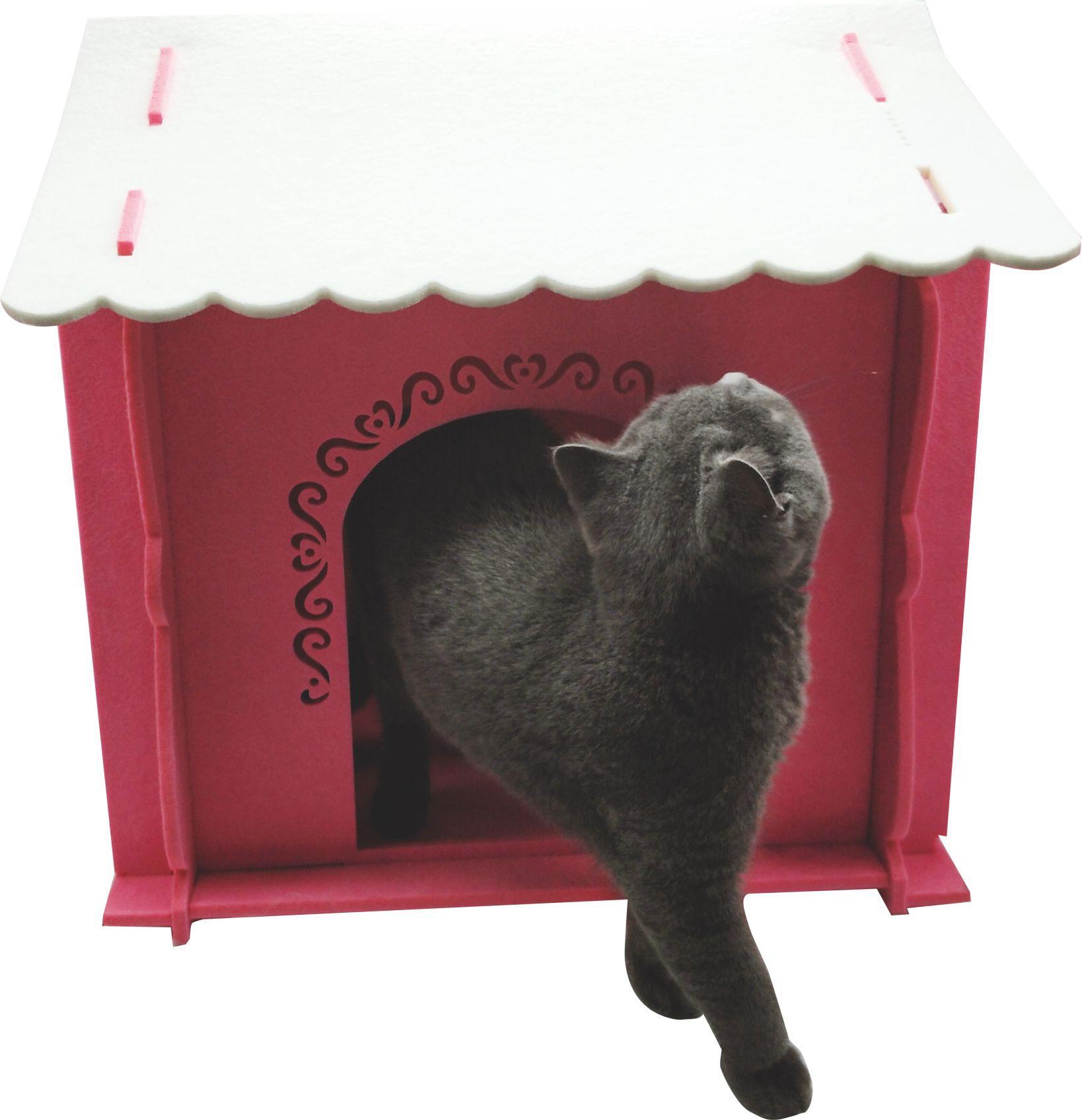Felt Cat Cave Pet House Dog Bed Lovely Pumpkin Shape 5