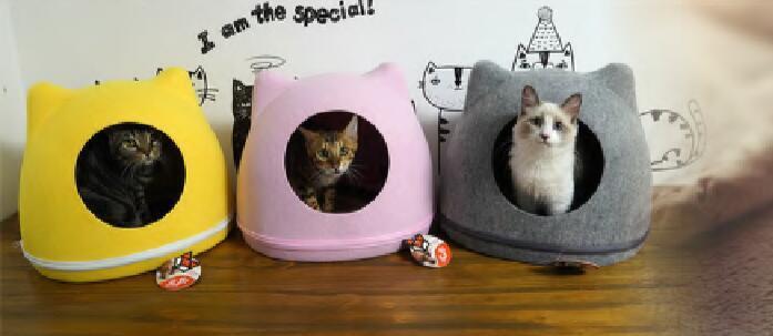 Customized Nature Felt Funny Cute Heated Cat House Outdoor 5
