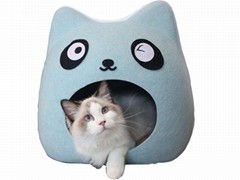 Felt Cat Cave Pet House Dog Bed Lovely Panda Shape