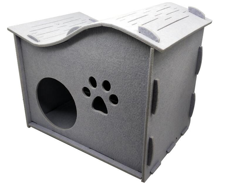 Comfortable Luxury Assembled Curve Cat Cave Pet House New Arrival 1
