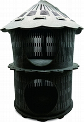 New Arrival Luxury Felt Cat House Double Tower Shape
