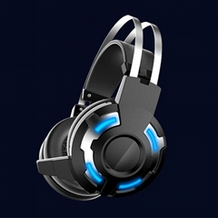 Stretchable and Folding gaming headset with wired headphone