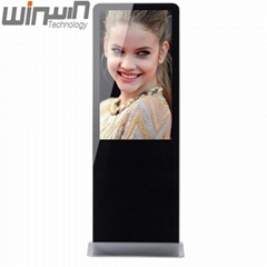 Cheapest 49 inch floor stand digital signage player lcd  totem  kiosk