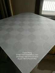 pvc laminated gypsum ceiling tile for interior decoration