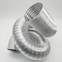 HVAC Systems Parts Semi Rigid Flexible Aluminum Pipe Exhaust Hose Aluminum Ducti