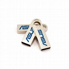 Business Gift Custom Laser Logo Bulk 4GB Mini Metal USB Drive