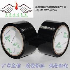 Black transparent adhesive paper
