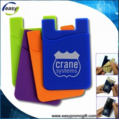 Promotional tech accessories Custom design silicone rubber credit card holder