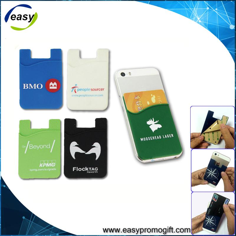 Promotional tech accessories Custom design silicone rubber credit card holder 2