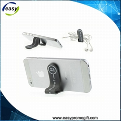 mobile phone stand earphone cable band magnetic silicone clip and band