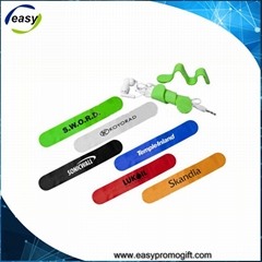 Multi purpose bendable silicone magnet clip for mobile phone