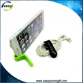 Multi purpose bendable silicone magnet clip for mobile phone 3
