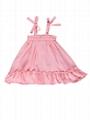 Summer Toddler Baby Girl Frilled Pink Sundress Wholesale 1