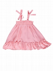 Summer Toddler Baby Girl Frilled Pink Sundress Wholesale