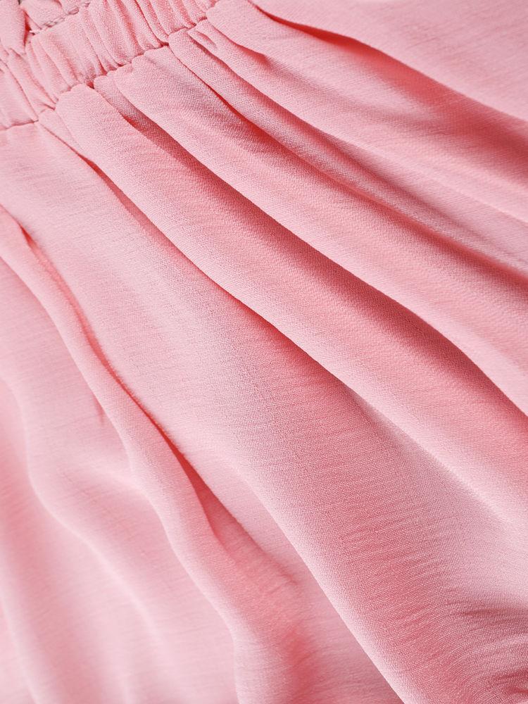 Summer Toddler Baby Girl Frilled Pink Sundress Wholesale 4