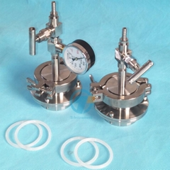 quick clamp vacuum sealing assembly Flange with KF50 port for tube furnace