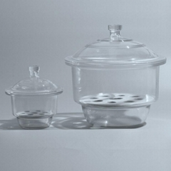 Desiccator with Porcelain Plate Clear Glass Laboratory Drying Equipment Shenzhen