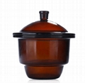 300mm Desiccator with Porcelain Plate Amber Glass Laboratory Drying Equipment Sh