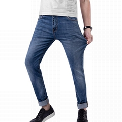 Jilv Brand Blue Men's Jeans Pants Washed High Quality China Factory Wholesale
