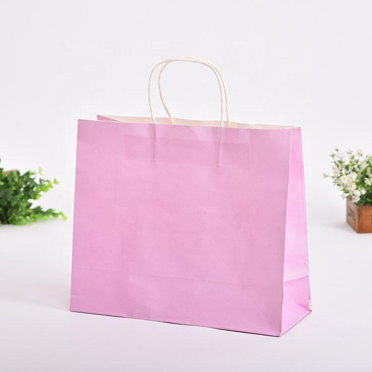 Fashion Printed Gift Kraft Brown Jewelry Paper Bag 3