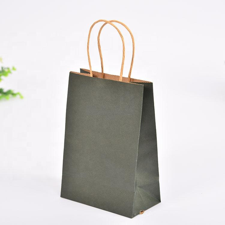 Fashion Printed Gift Kraft Brown Jewelry Paper Bag 5