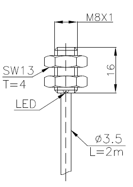 常规系列电感式传感器(接近开关)M8 2